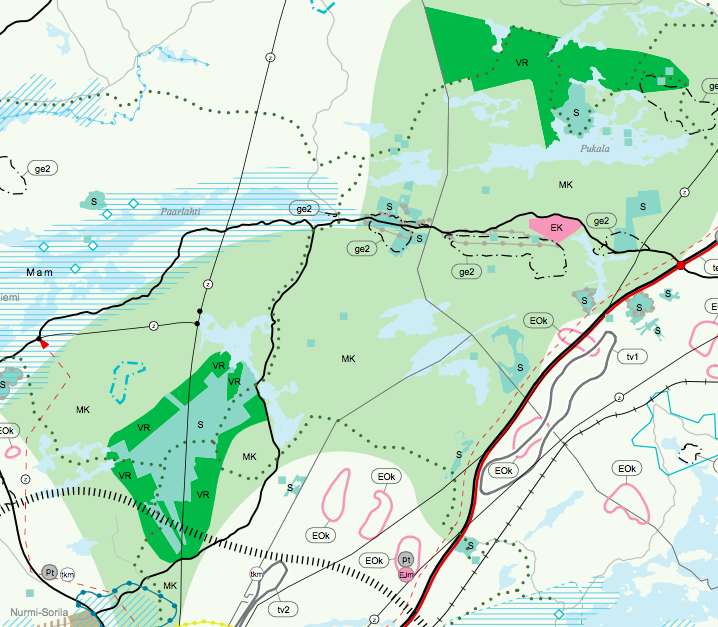 Kintulammi ja Pukalajärvi maakuntakaavaehdotuksessa