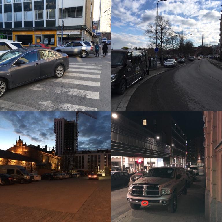 Pysäköintiä Tampereen tapaan
